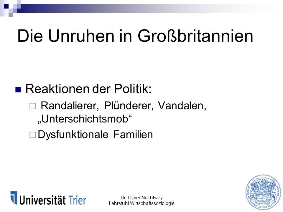 Soziale Mobilität Dr. Oliver Nachtwey Lehrstuhl Wirtschaftssoziologie