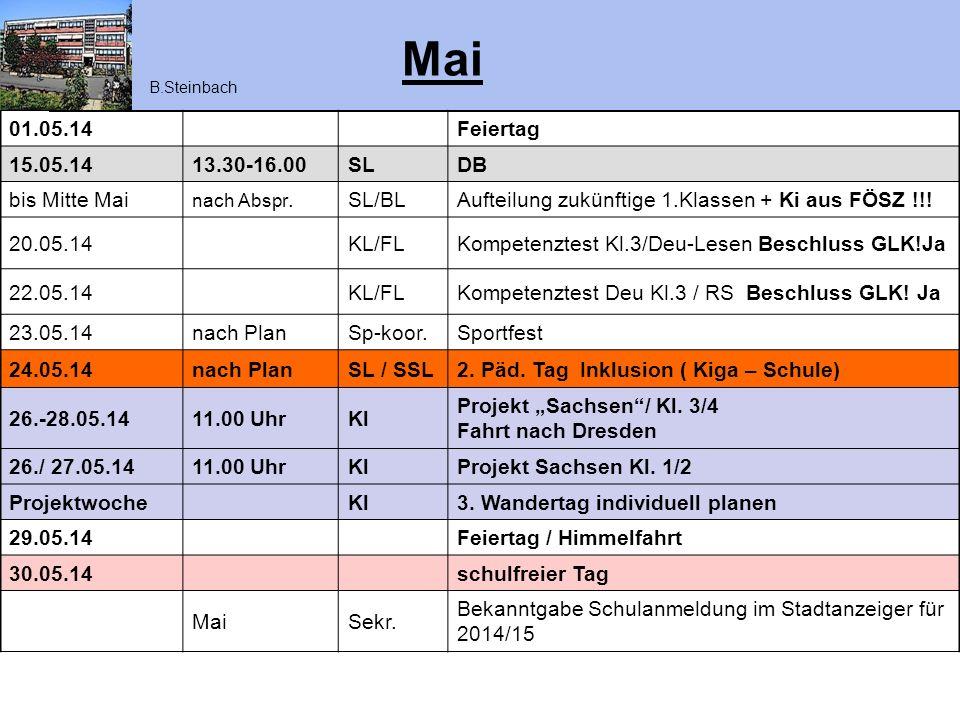Juni 02.06.1419.00 UhrKL/SLEA zuk.1.Klassen / Kiga + FÖSZ Info !!.