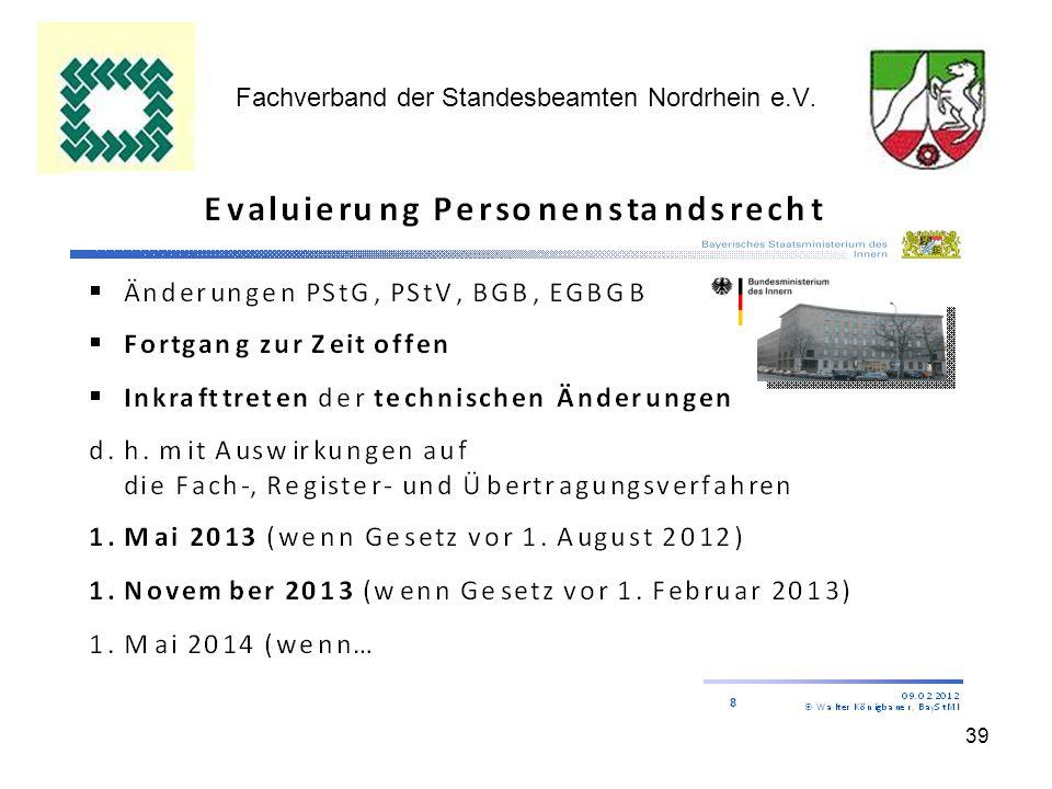 39 Fachverband der Standesbeamten Nordrhein e.V.