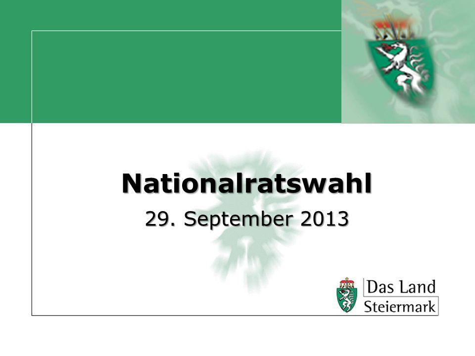Autor Nationalratswahl 2013 Die Termine