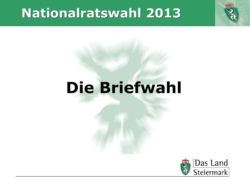Autor Nationalratswahl 2013 Die Briefwahl