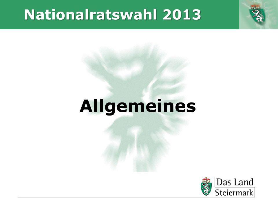 Autor Nationalratswahl 2013 Allgemeines
