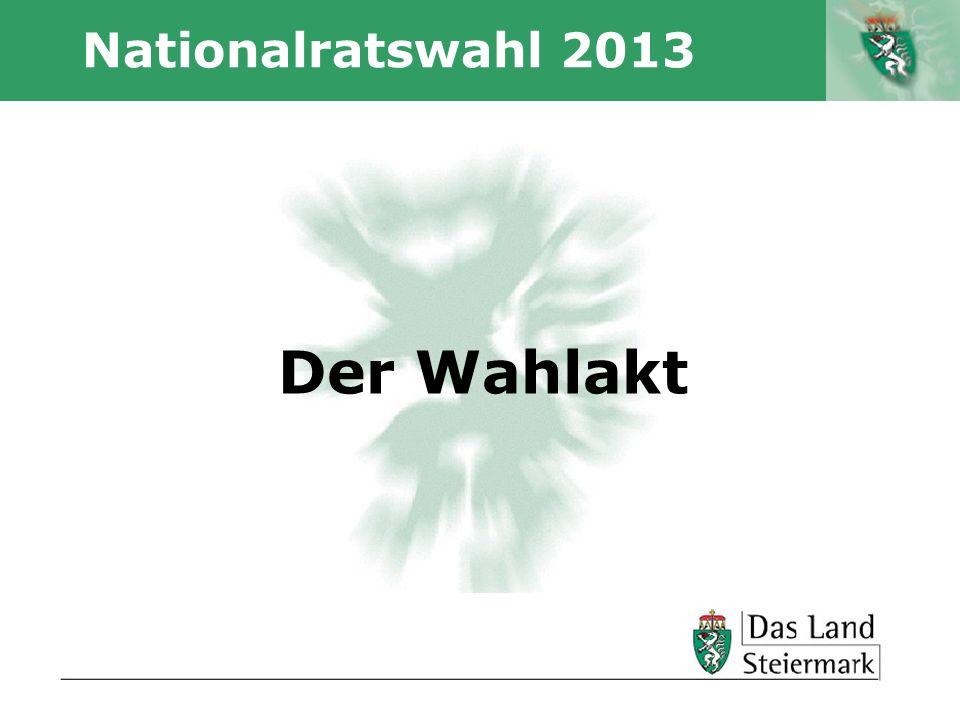 Autor Nationalratswahl 2013 Der Wahlakt