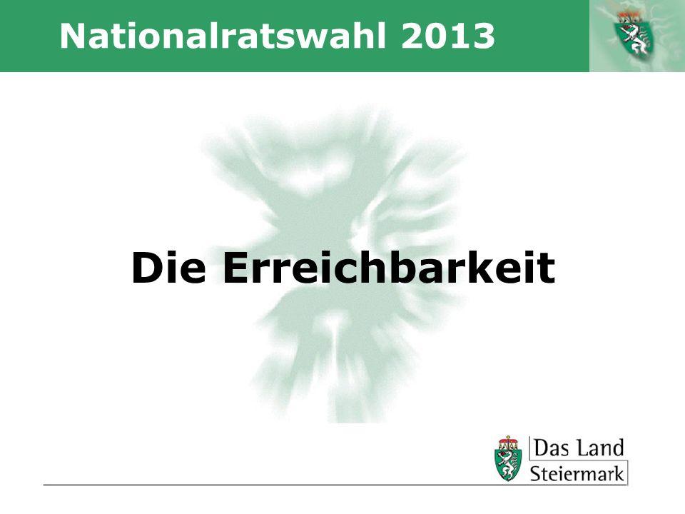Autor Nationalratswahl 2013 Die Erreichbarkeit