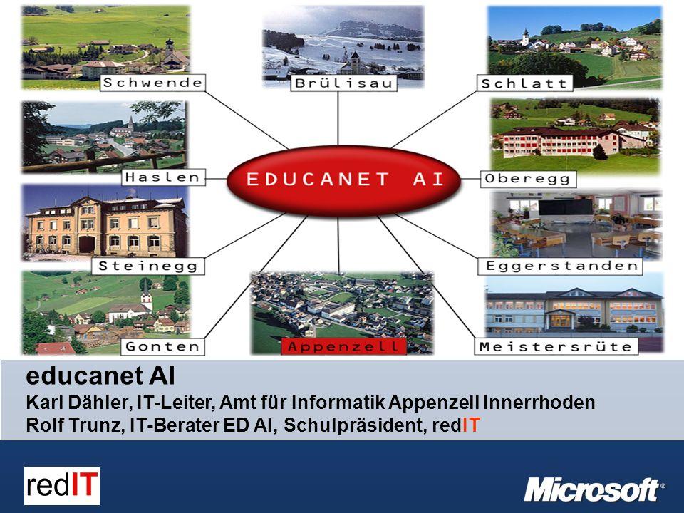 educanet AI Karl Dähler, IT-Leiter, Amt für Informatik Appenzell Innerrhoden Rolf Trunz, IT-Berater ED AI, Schulpräsident, redIT