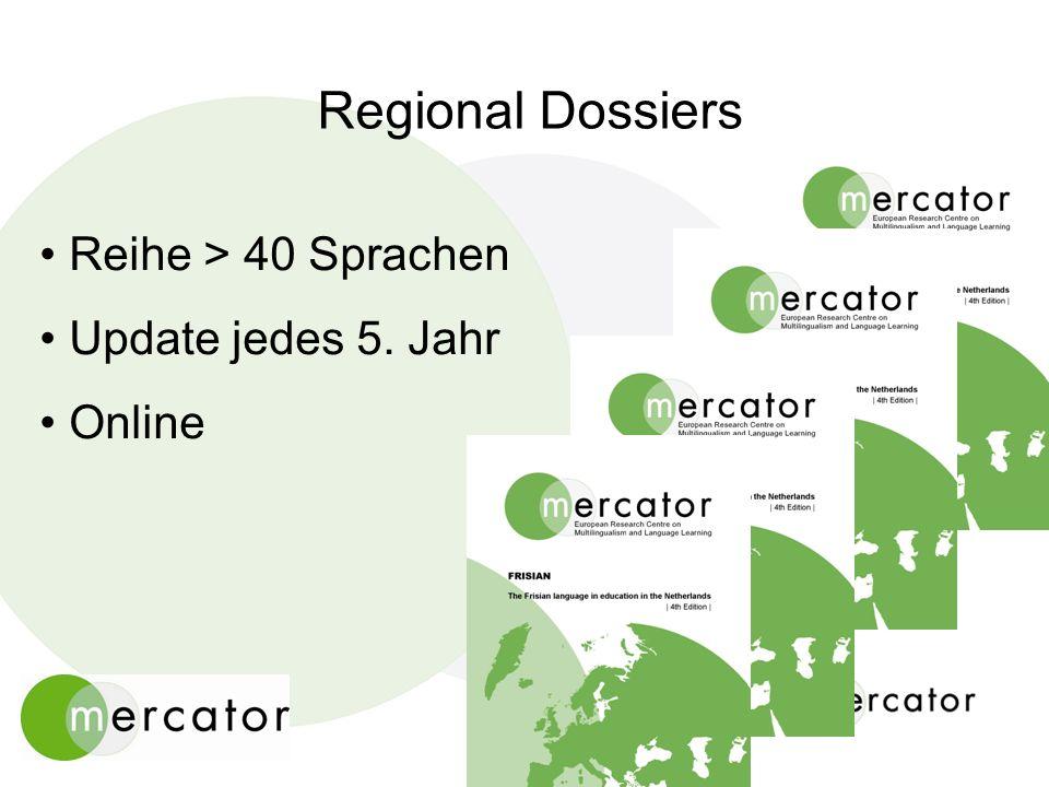 Regional Dossiers Reihe > 40 Sprachen Update jedes 5. Jahr Online