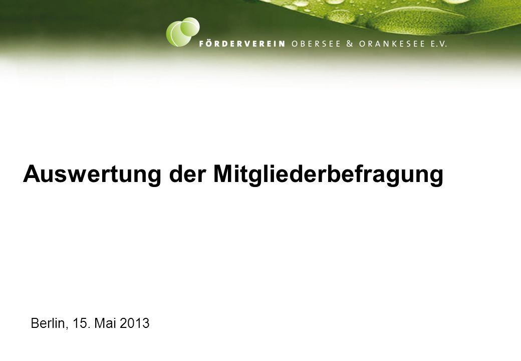 1 Auswertung der Mitgliederbefragung Berlin, 15. Mai 2013