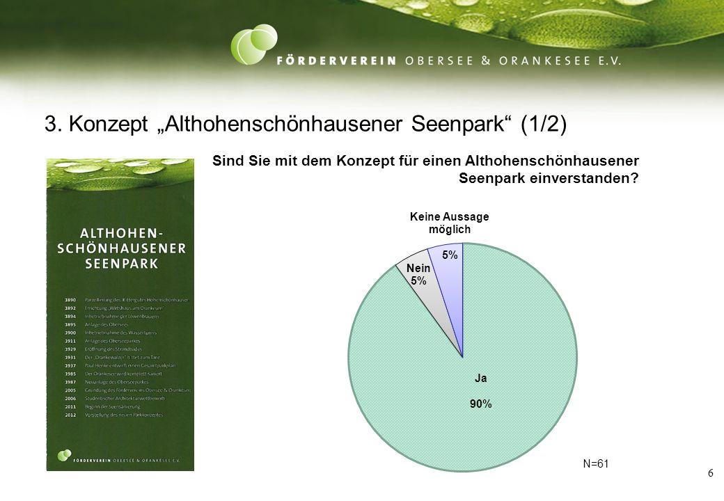 6 3. Konzept Althohenschönhausener Seenpark (1/2) N=61