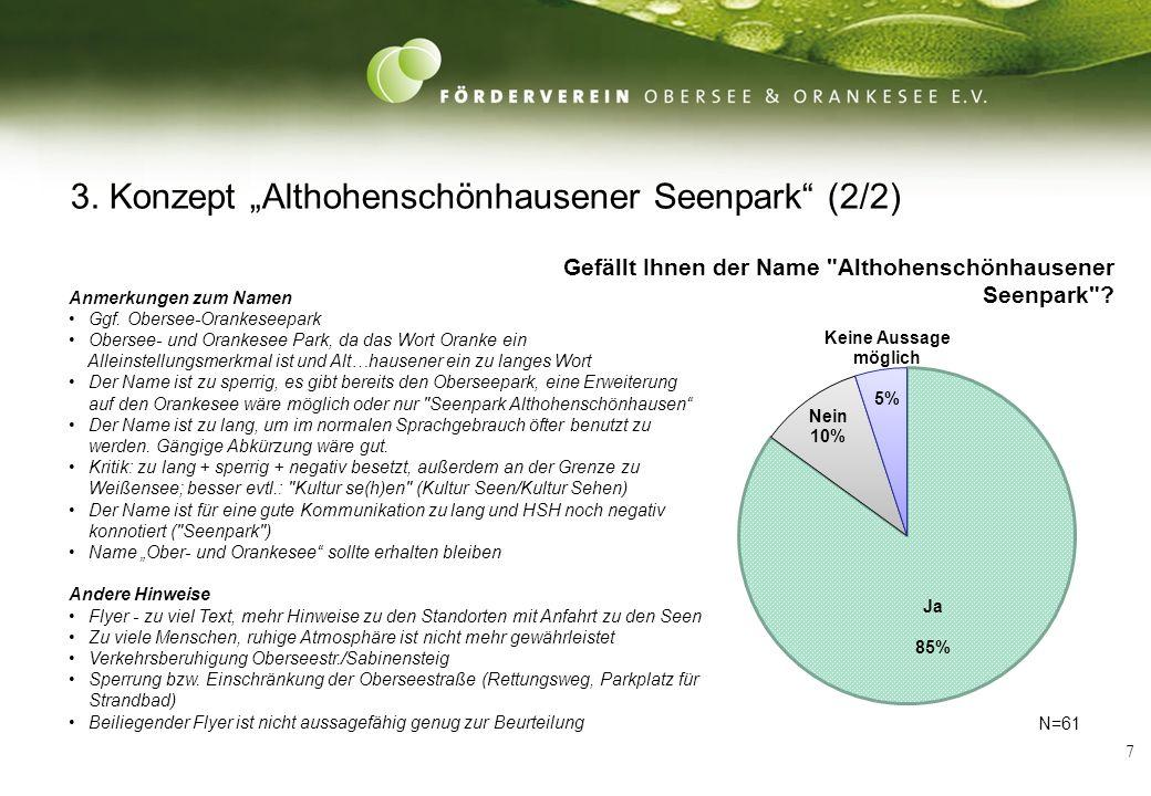 7 3. Konzept Althohenschönhausener Seenpark (2/2) Anmerkungen zum Namen Ggf.