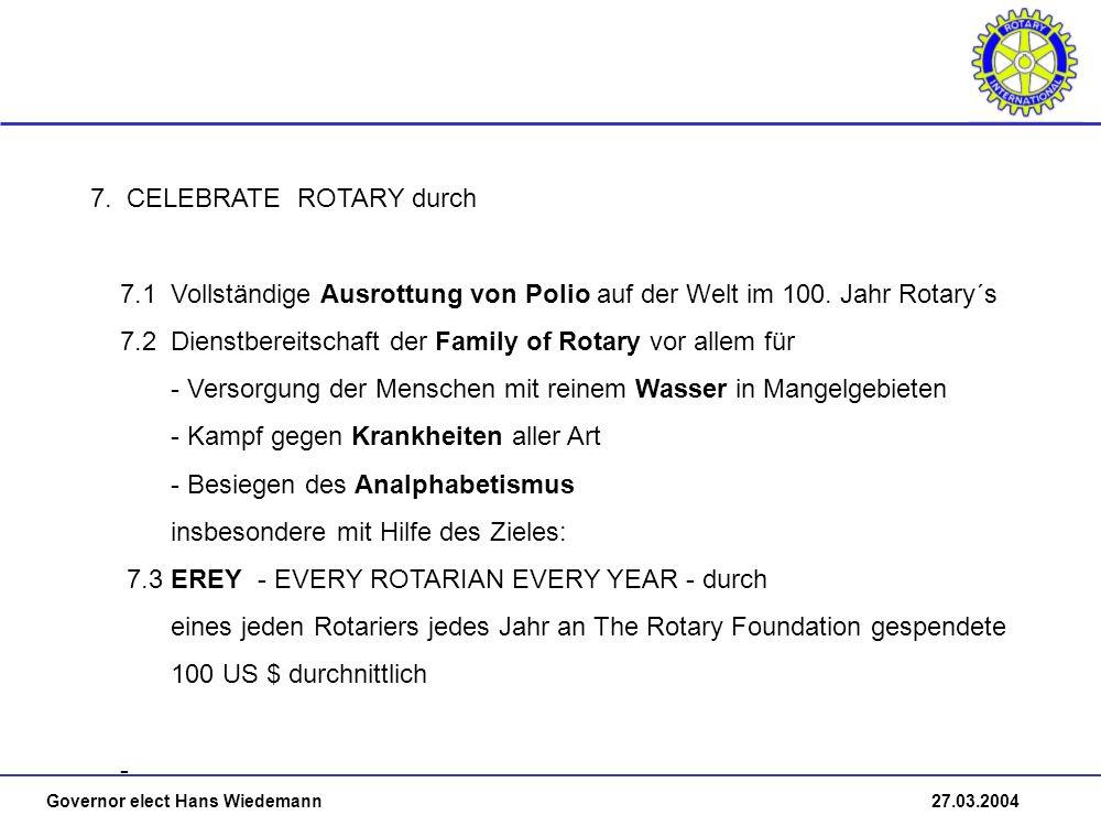 Governor elect Hans Wiedemann 27.03.2004 7.