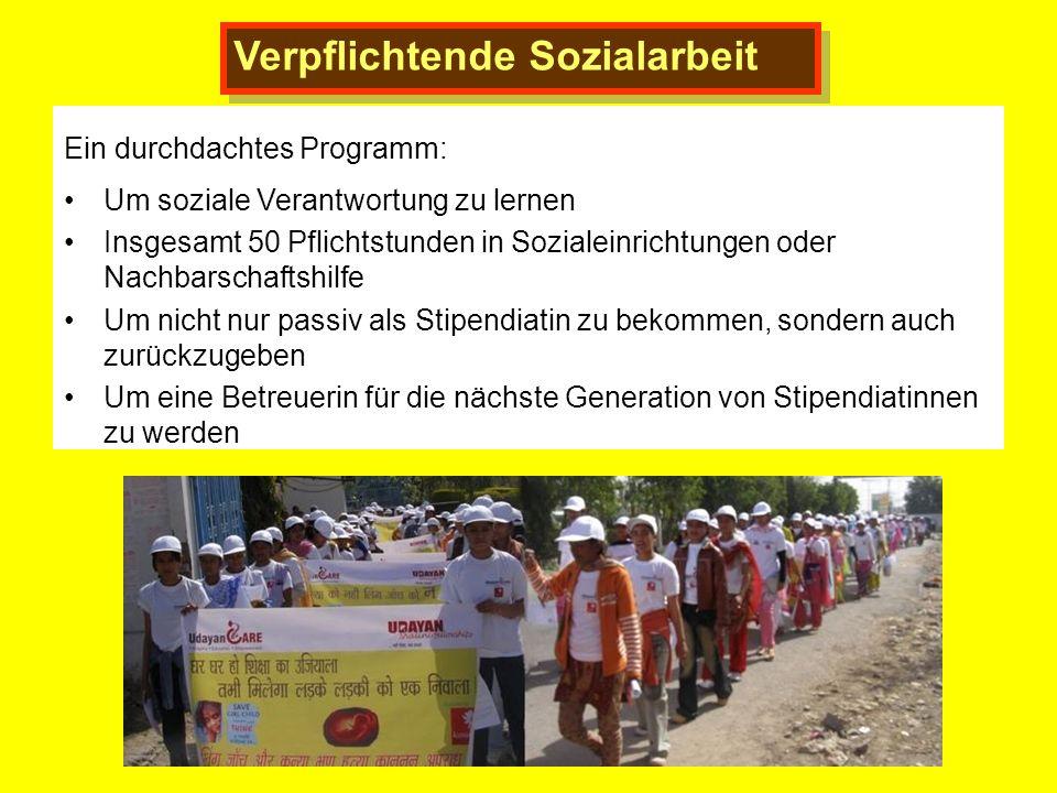 Verpflichtende Sozialarbeit Ein durchdachtes Programm: Um soziale Verantwortung zu lernen Insgesamt 50 Pflichtstunden in Sozialeinrichtungen oder Nach