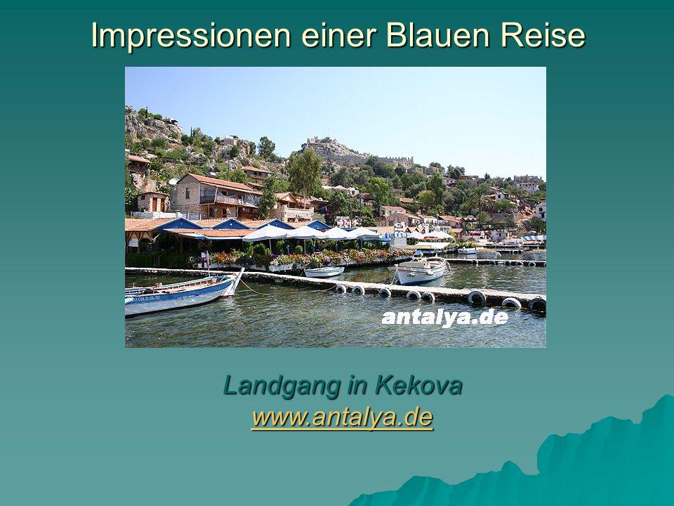 Impressionen einer Blauen Reise Landgang in Kekova www.antalya.de