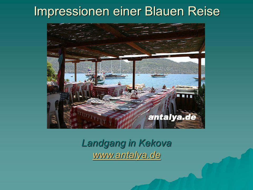 Impressionen einer Blauen Reise Landgang in Kekova www.antalya.de www.antalya.de