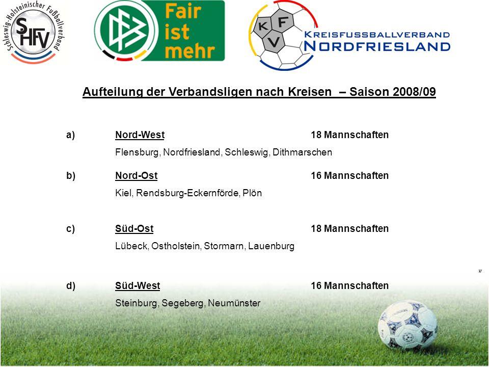 Seite 9 Auf-/Abstiegsregelung für die neuen Spielklassenstrukturen im Herrenbereich 1.) Schleswig-Holstein-Liga 18 Mannschaften 4 Absteiger aus der SH-Liga 4 Aufsteiger (jeweils Meister oder bei Verzicht Nächstplatzierter, soweit kein sportlicher Absteiger) wird heute mit Unterbau der Bezirksoberligen schon praktiziert
