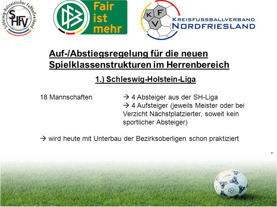 Seite 10 Auf-/Abstiegsregelung für die neuen Spielklassenstrukturen im Herrenbereich 2.) Verbandsligen a.) Mannschaftsstärke je nach Unterbau, d.h.