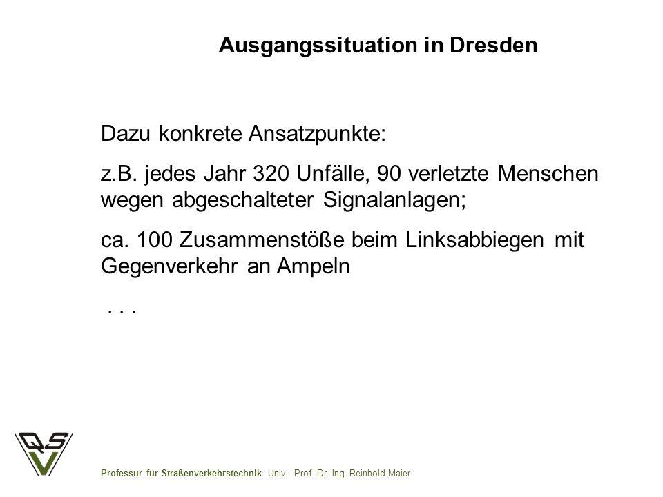 Professur für Straßenverkehrstechnik Univ.- Prof.Dr.-Ing.