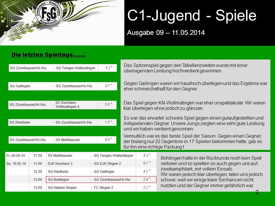 FSG E-Jugend - NEWS Ausgabe 4 – 28.11.2009 2 zurück zur Startseite Die letzten Spieltage…….