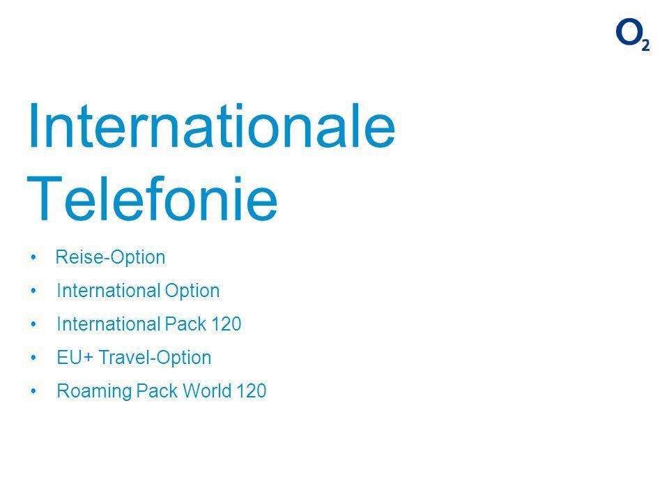 Reise-Option International Option International Pack 120 EU+ Travel-Option Roaming Pack World 120 Internationale Telefonie
