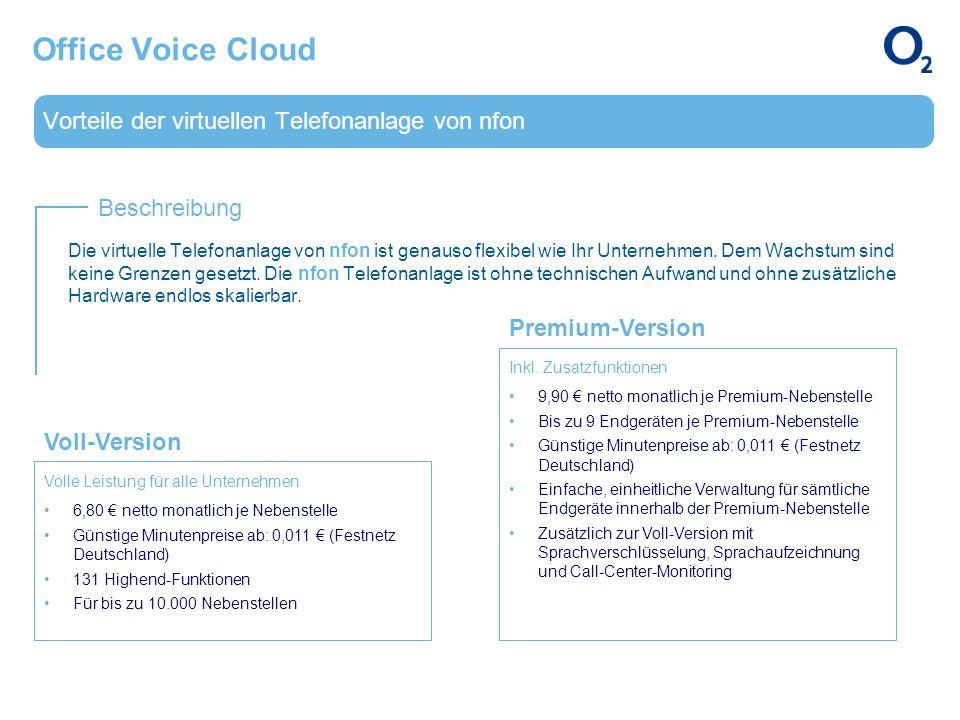 Vorteile der virtuellen Telefonanlage von nfon Beschreibung Office Voice Cloud Die virtuelle Telefonanlage von nfon ist genauso flexibel wie Ihr Unter