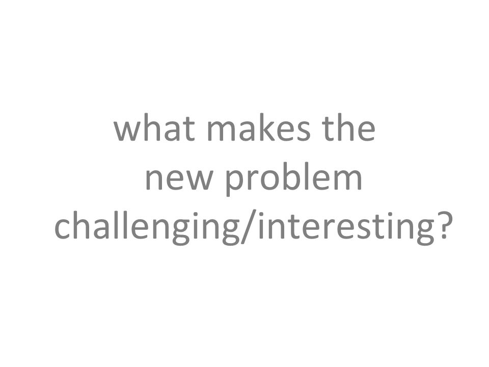 Data Analytics(10) what makes the new problem challenging/interesting