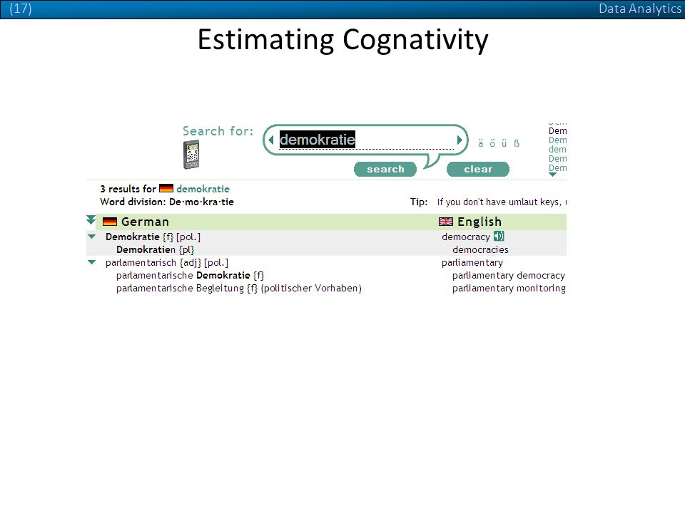 Data Analytics(17) Estimating Cognativity