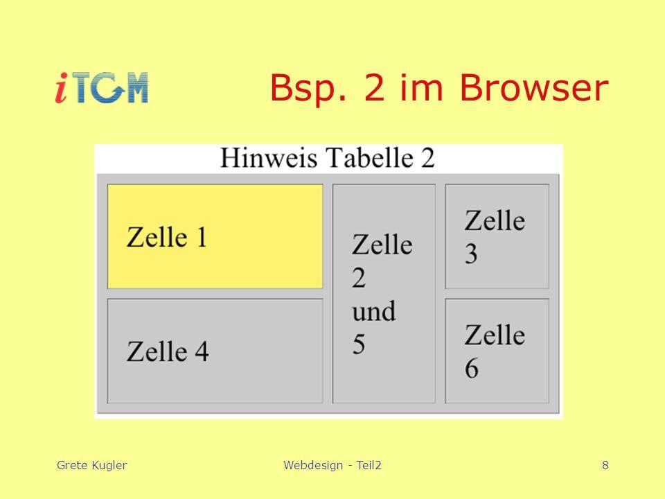 Grete KuglerWebdesign - Teil28 Bsp. 2 im Browser