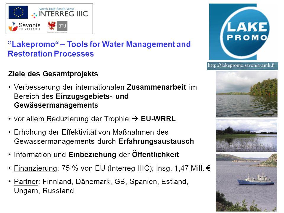 Ziele des Gesamtprojekts Verbesserung der internationalen Zusammenarbeit im Bereich des Einzugsgebiets- und Gewässermanagements vor allem Reduzierung