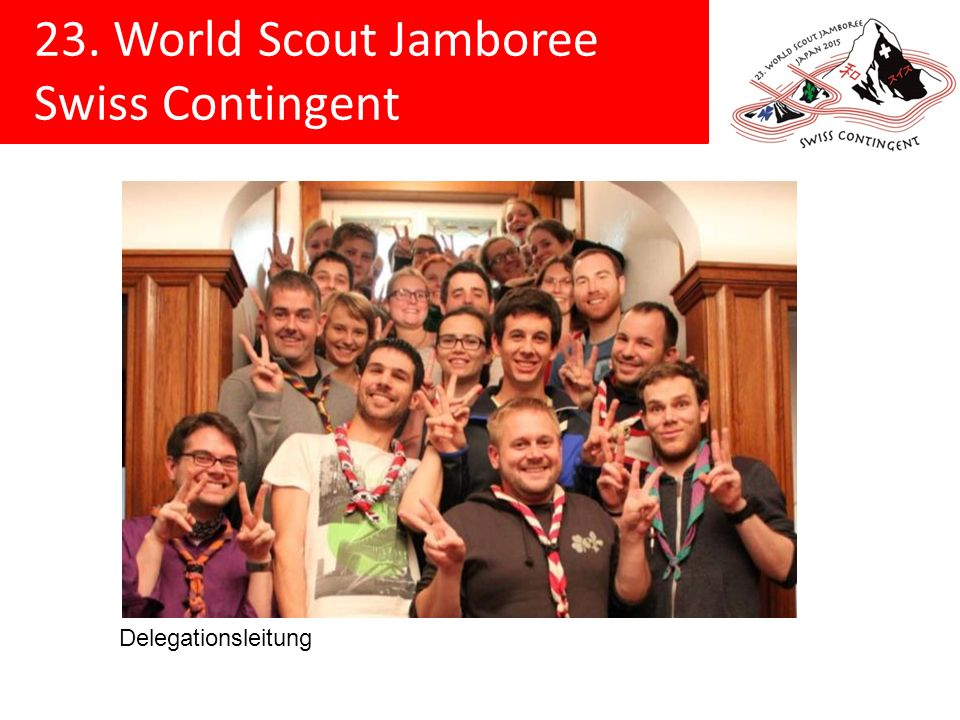 23. World Scout Jamboree Swiss Contingent Delegationsleitung
