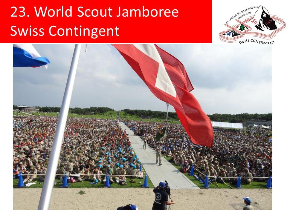 23. World Scout Jamboree Swiss Contingent Lagerplatz Kirara-hama, Yamaguchi