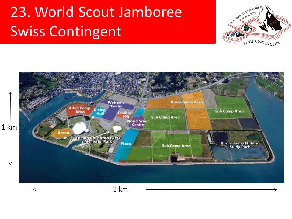 23.World Scout Jamboree Swiss Contingent Wer kann teilnehmen.