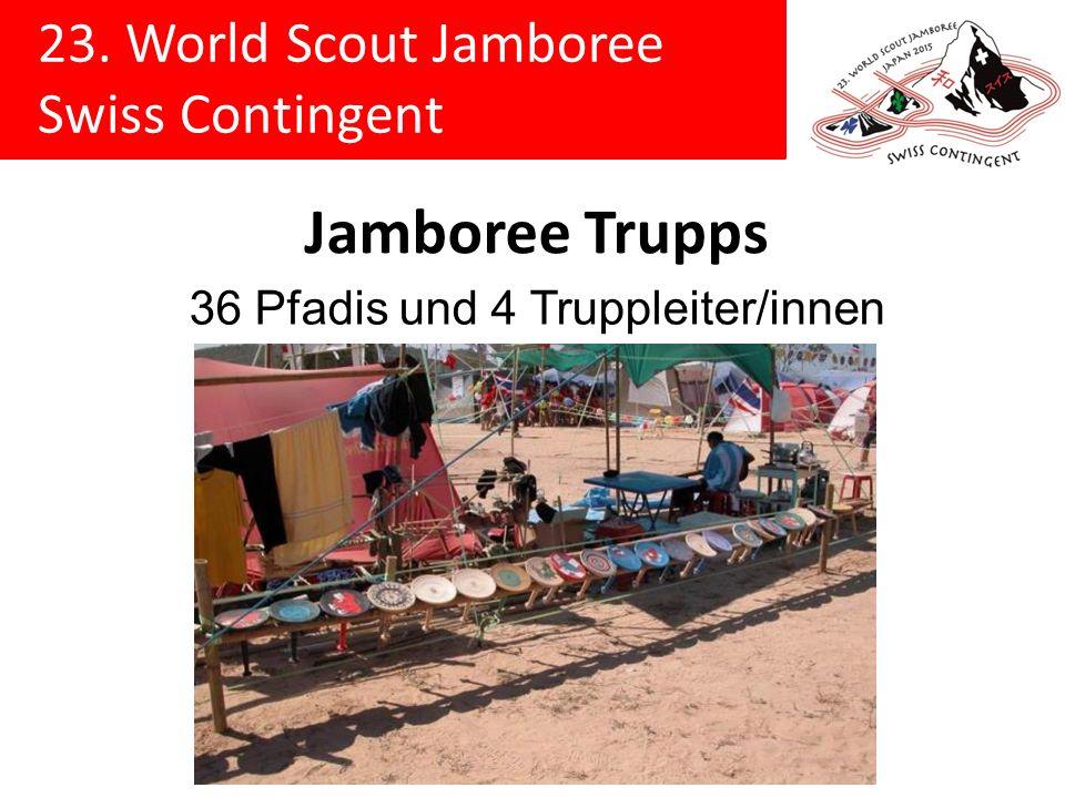 23.World Scout Jamboree Swiss Contingent Schweizer Delegation Lagerdatum28.