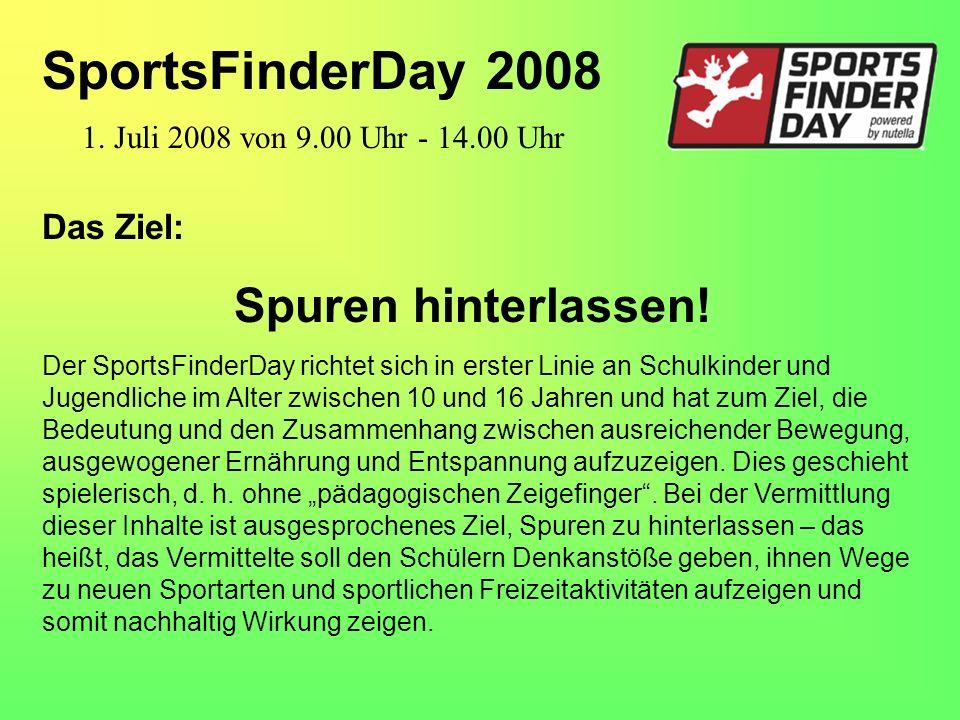 Das Ziel: Spuren hinterlassen! Der SportsFinderDay richtet sich in erster Linie an Schulkinder und Jugendliche im Alter zwischen 10 und 16 Jahren und