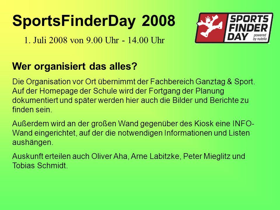Wer organisiert das alles. Die Organisation vor Ort übernimmt der Fachbereich Ganztag & Sport.