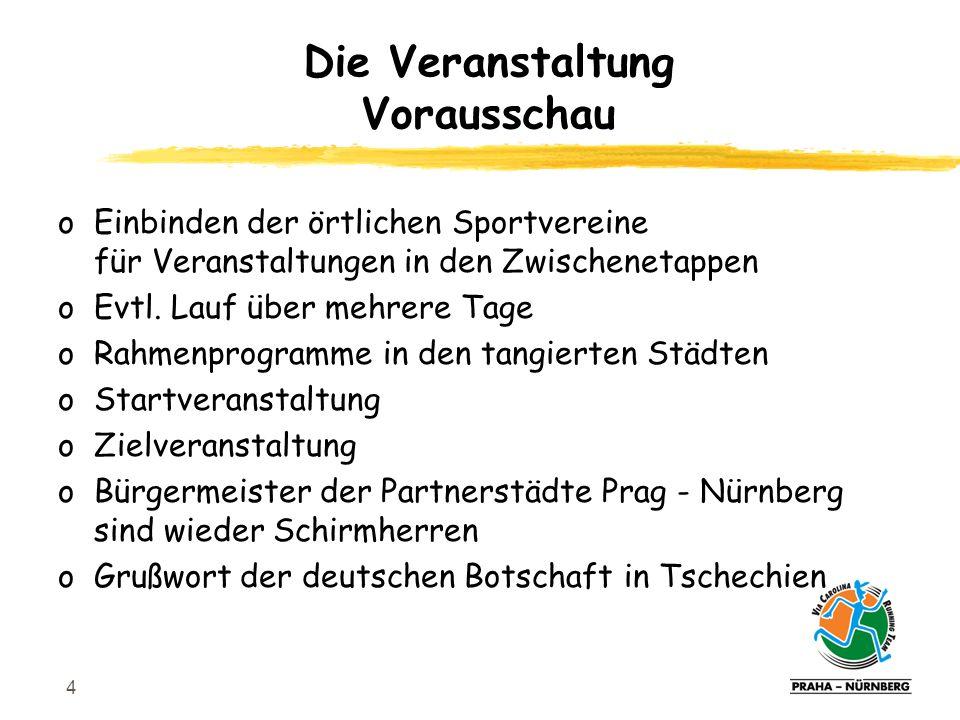 4 oEinbinden der örtlichen Sportvereine für Veranstaltungen in den Zwischenetappen oEvtl.