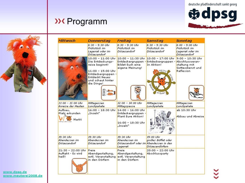 Programm www.dpsg.de www.meuterei2008.de