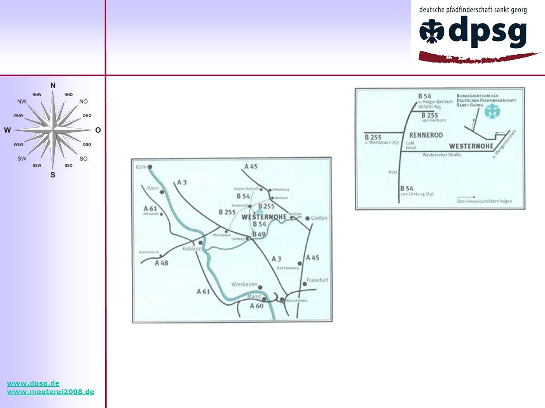 www.dpsg.de www.meuterei2008.de Platz für eine Landkarte