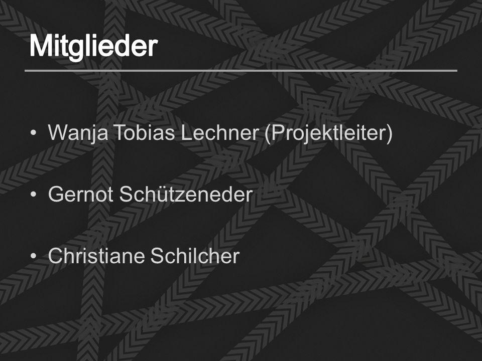 Wanja Tobias Lechner (Projektleiter) Gernot Schützeneder Christiane Schilcher