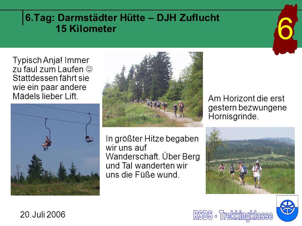 6.Tag: Darmstädter Hütte – DJH Zuflucht 15 Kilometer 6 20.Juli 2006 Auch Frau Wencker läuft Schritt für Schritt, denn wie man sieht ist sie sehr fit.