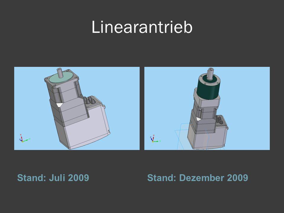 Linearantrieb Stand: Juli 2009Stand: Dezember 2009