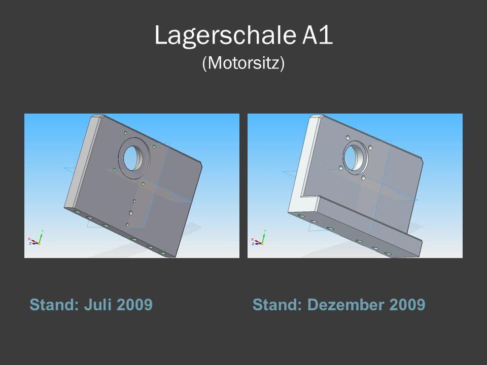 Lagerschale A1 (Motorsitz) Stand: Juli 2009Stand: Dezember 2009