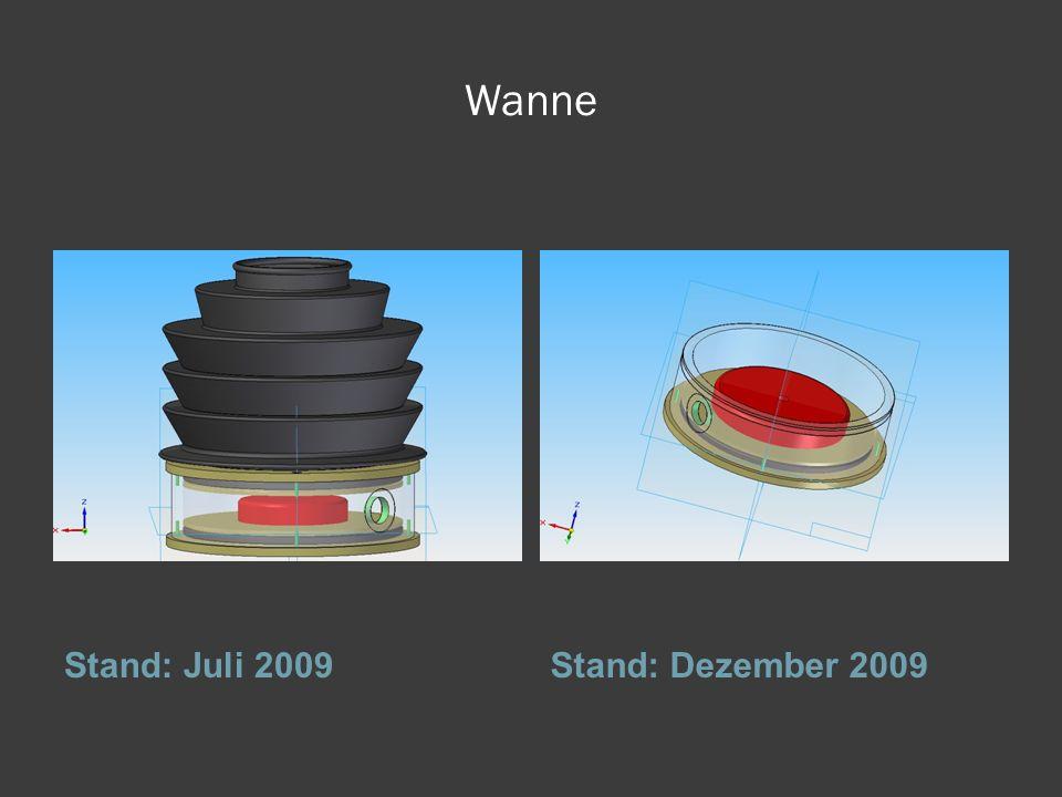 Wanne Stand: Juli 2009Stand: Dezember 2009