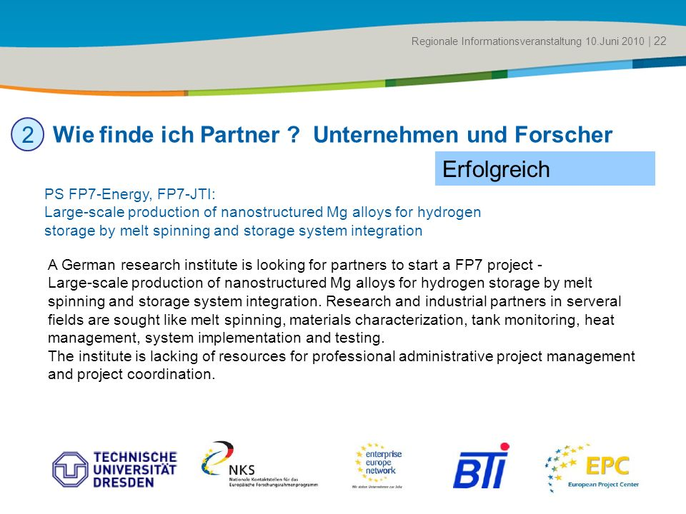Title of the presentation | Date |# Wie finde ich Partner .