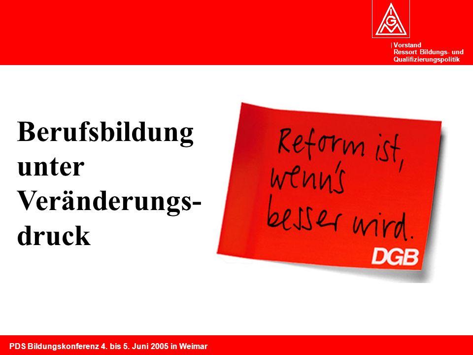 Vorstand Ressort Bildungs- und Qualifizierungspolitik PDS Bildungskonferenz 4.
