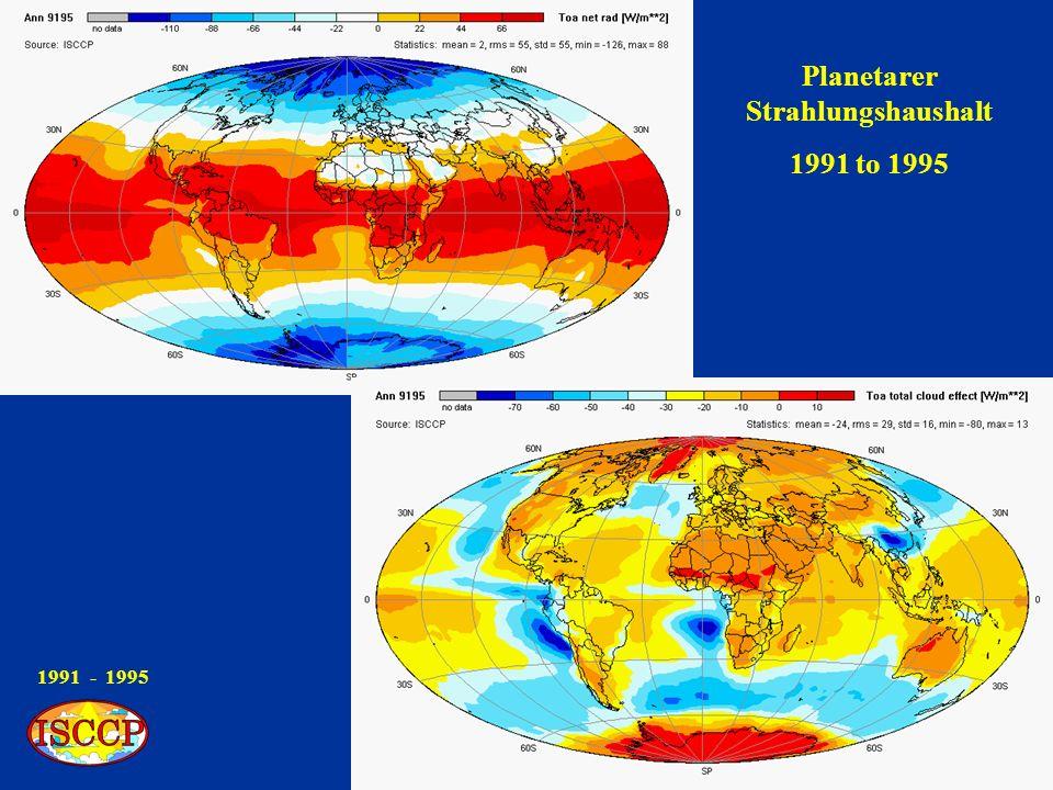 1991 - 1995 Strahlungshaushalt an der Erdoberfläche 1991 to 1995