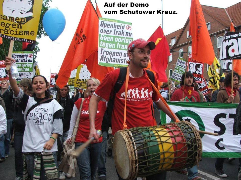 Auf der Demo vom Schutower Kreuz.