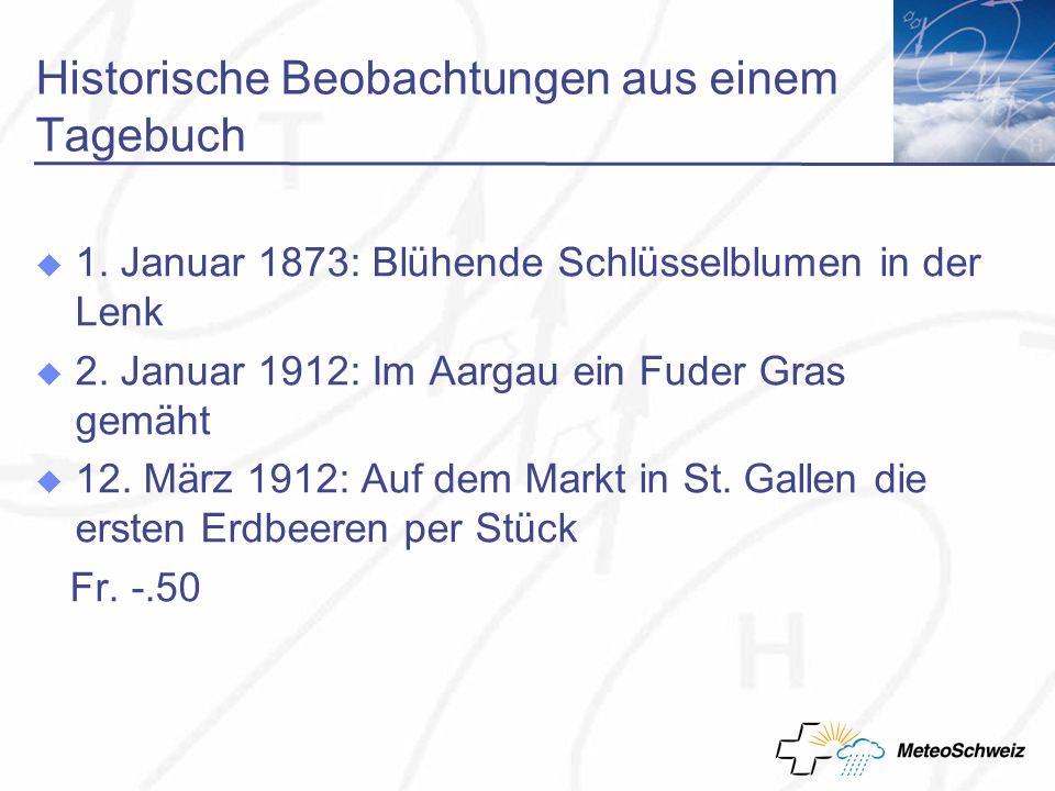 Historische Beobachtungen aus einem Tagebuch 1.