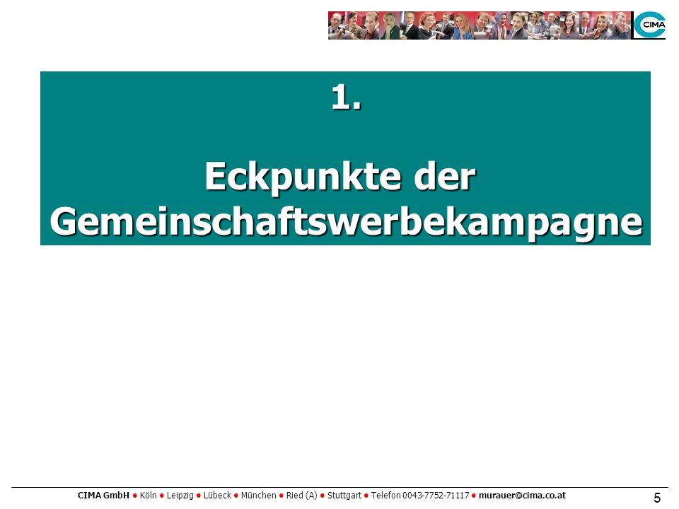 CIMA GmbH Köln Leipzig Lübeck München Ried (A) Stuttgart Telefon 0043-7752-71117 murauer@cima.co.at 5 1.