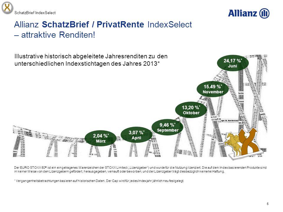 5 Allianz SchatzBrief / PrivatRente IndexSelect – attraktive Renditen.