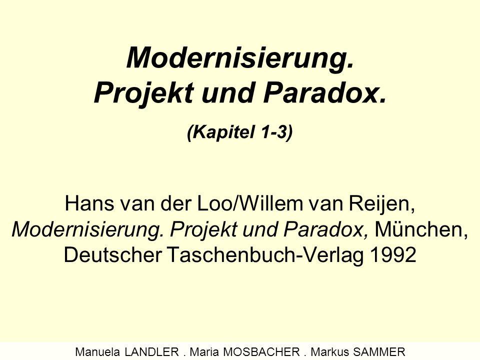 Modernisierung.Projekt und Paradox.