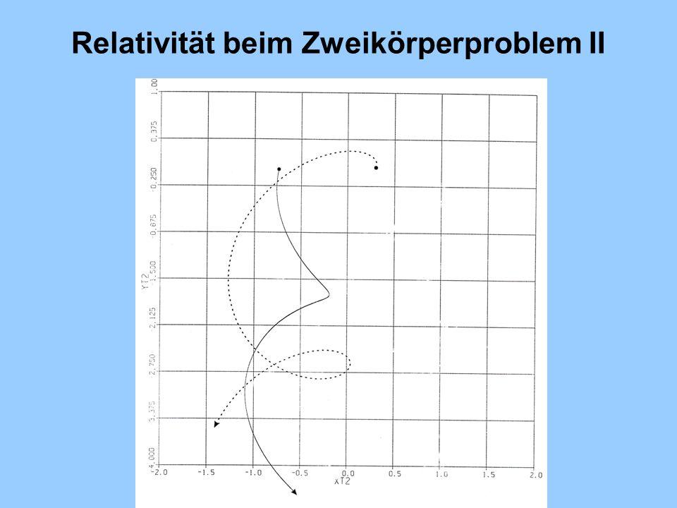 Relativität beim Zweikörperproblem II